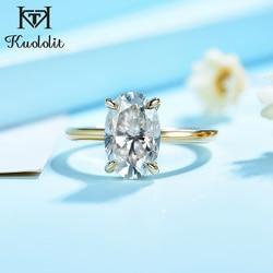 Kuololit 3CT Moissanite 585 10K 14K blanc jaune or Rose bague pour femmes laboratoire diamants bague de luxe pour fiançailles anniversaire