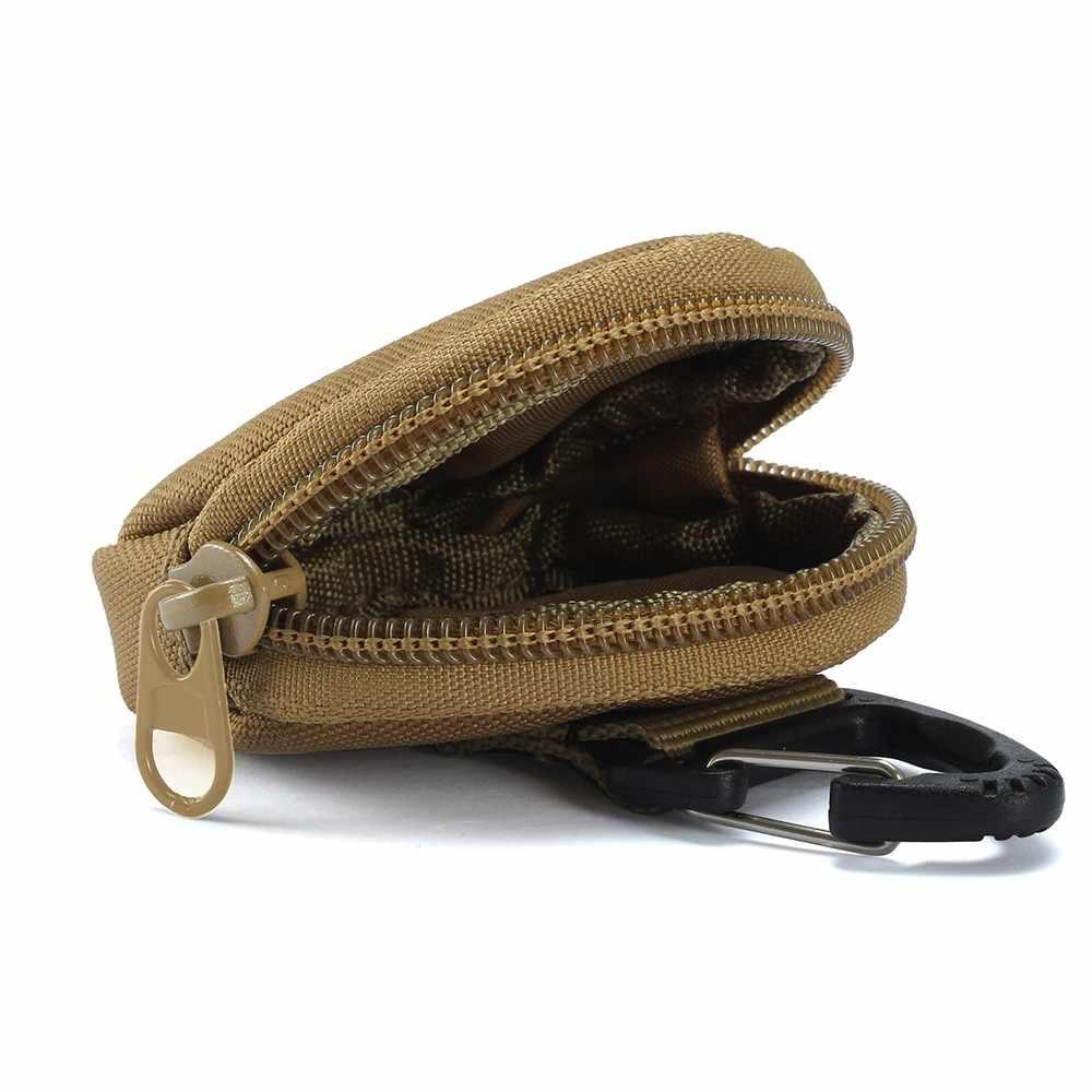 900D Nilon Multifungsi EDC Pouch Outdoor Taktis Militer Tas Pinggang Molle Alat Zipper Pack Aksesori Tahan Lama Belt Saku