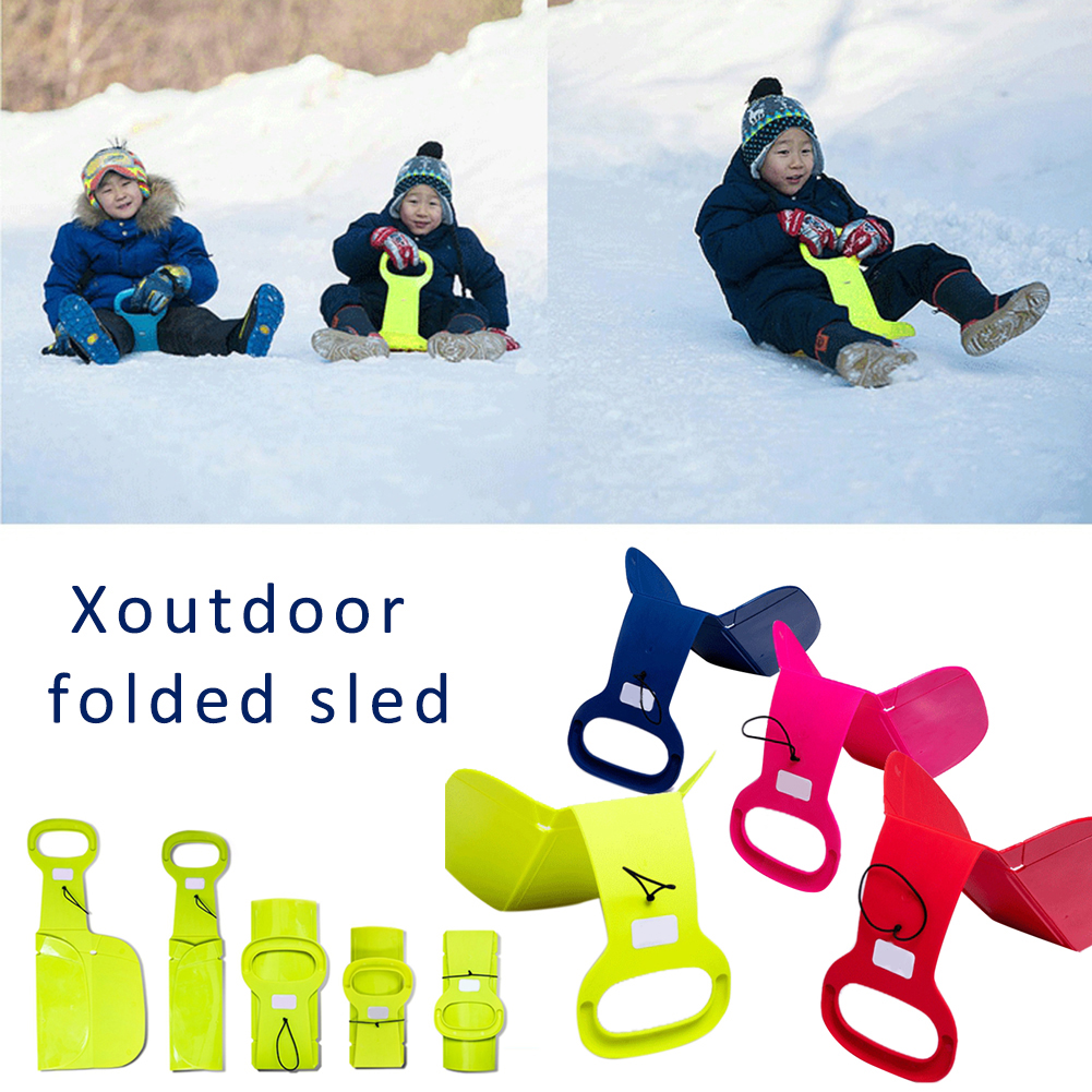 Outdoor Folding Skiing Sled For Adults Children Winter Sports Folding Ski Snow Sled Snow Game