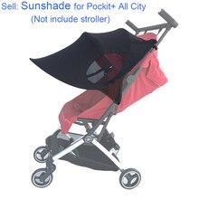 맞춤형 GB POCKIT 모든 도시 베이비 유모차 액세서리 Sunshade Sun Visor Canopy Goodbaby Pockit + All City 용 UV 커버