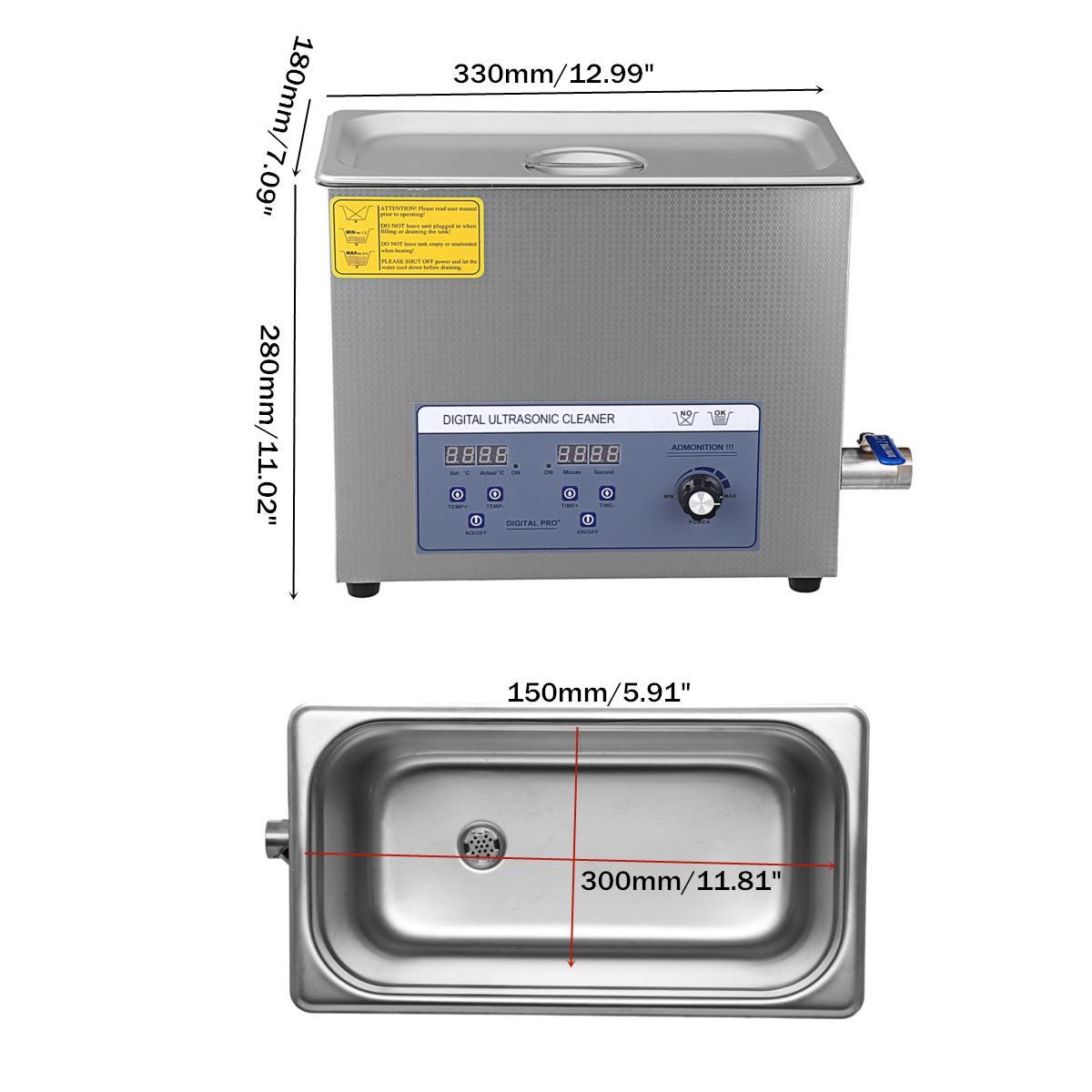Profissional de 6l 220 v liftable lp álbum disco digital ultra sônico mais limpo vinil registro lavagem ultra som máquina limpeza portátil - 5