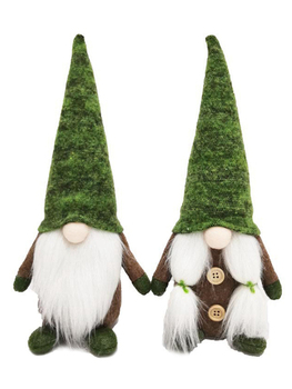 Cartoon Gnome Santa Claus Green Forest Elf Faceless Doll Plush Toy Creative Children Christmas Party Present