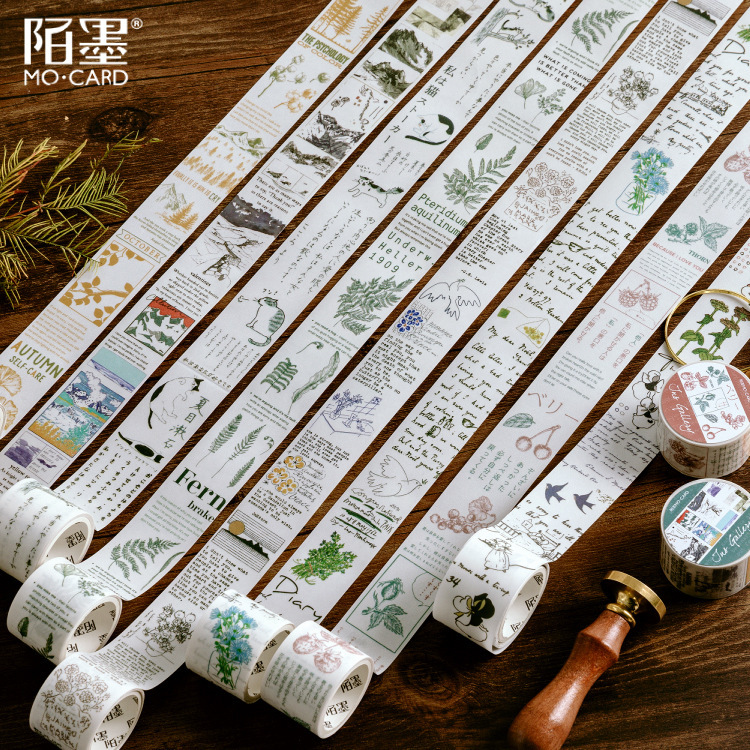 Autumn Scenery Masking Washi Tape Decorative Adhesive Tape Decora Diy Scrapbooking Sticker Label