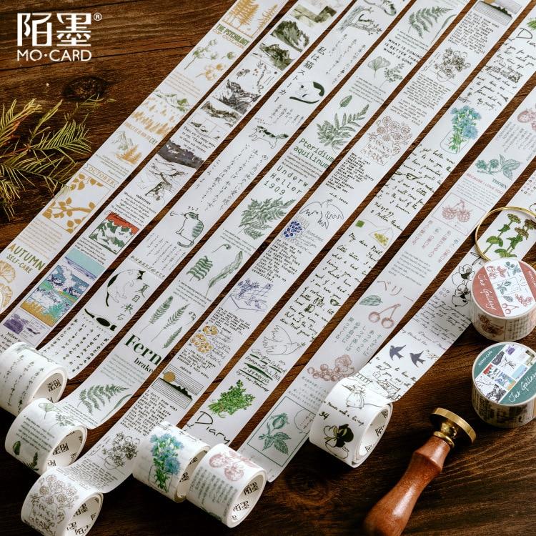 Autumn Scenery Masking Washi Tape Decorative Adhesive Tape Decora Diy Scrapbooking Sticker Label