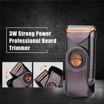 Mini Portable Electric Shaver Razor Men Single Blade Reciprocating Cordless Beard Shaving Machine Rechargeable Pop-up Trimmer 46 kemei electric shaver usb rechargeable electric beard trimmer shaving machine for men twin blade reciprocating cordless razor