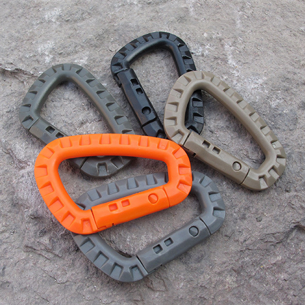 Outdoor Sport EDC D Shape Climbing Buckle Lightweight Backpack Bottle Hanging Accessories Durable Camping Keychian