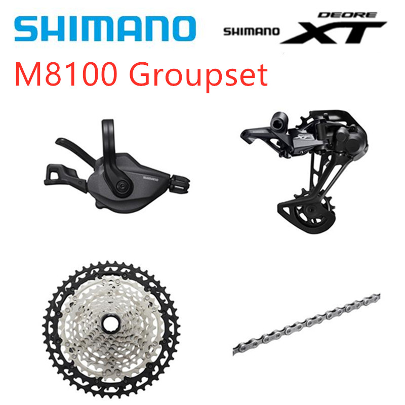 SHIMANO DEORE <font><b>XT</b></font> <font><b>M8100</b></font> 12s Groupset <font><b>M8100</b></font> Shifter Rear Derailleur Chain Cassette MTB Mountain Bike 1x12-Speed 51T SL+RD+CS+HG image