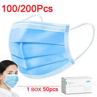 DHL Fast Shiping Protective Mask 3 Layer face Masks Non-Woven Facial Protection Cover Prevent bacteria Filtered air Civil Masks