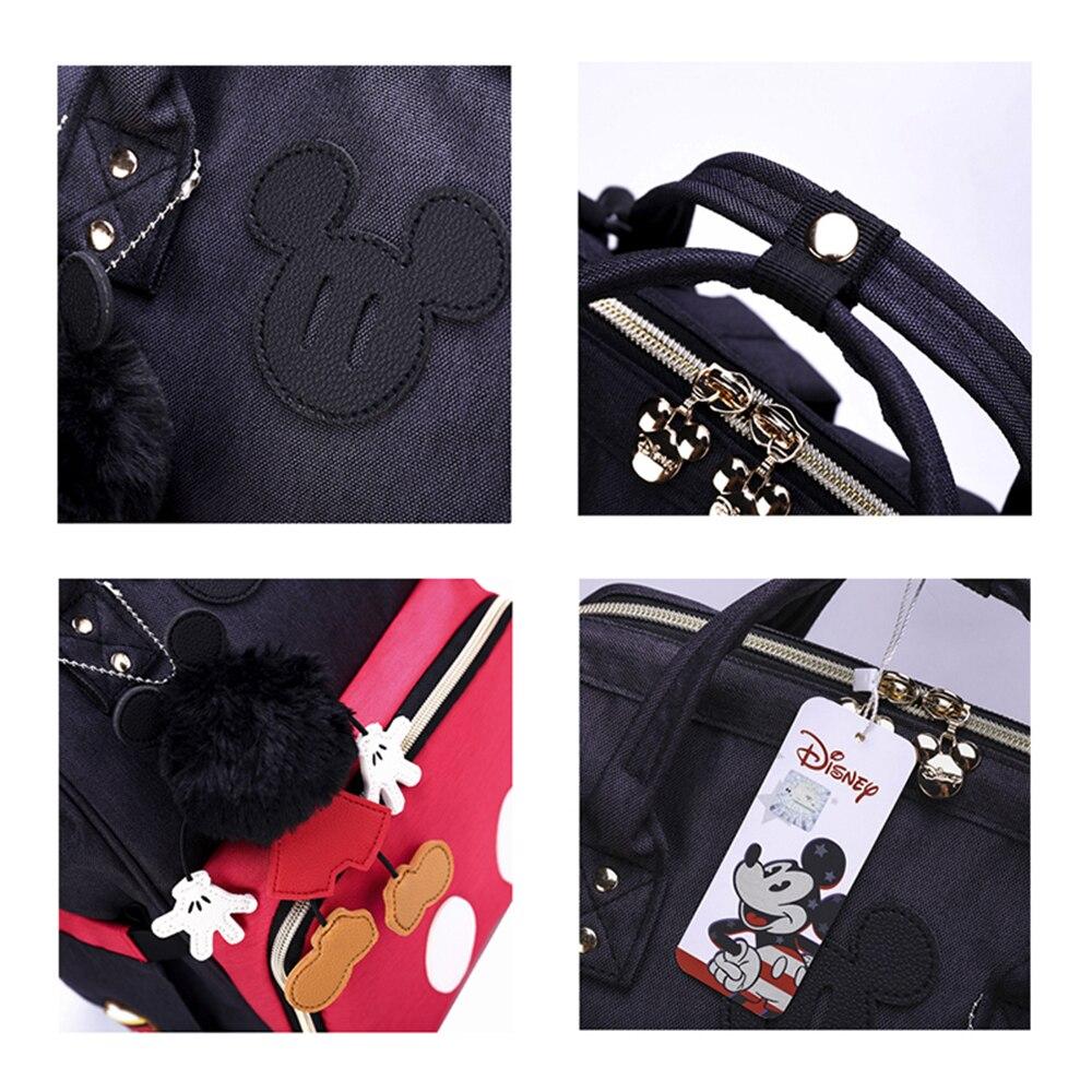 Купить с кэшбэком Disney Diaper Bag Backpack Baby Bags for Mom Wet Bag Fashion Mummy Maternity Diaper Organizer USB Travel Bag Stroller Hanging