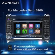 2 Din unidad de DVD del coche para Mercedes Sprinter Vito W639 W906 Viano Clase B W245 W169W209B200 AutoRadio Multimedia GPS navegación