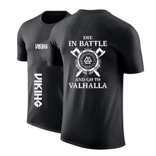 2020 hommes Personnalisé Odin Viking Mourir Au Combat Et Aller À Valhalla Col Rond t-shirt Autocollant Chemises Punk Imprimé Décontracté Hauts Sweat-Shirts