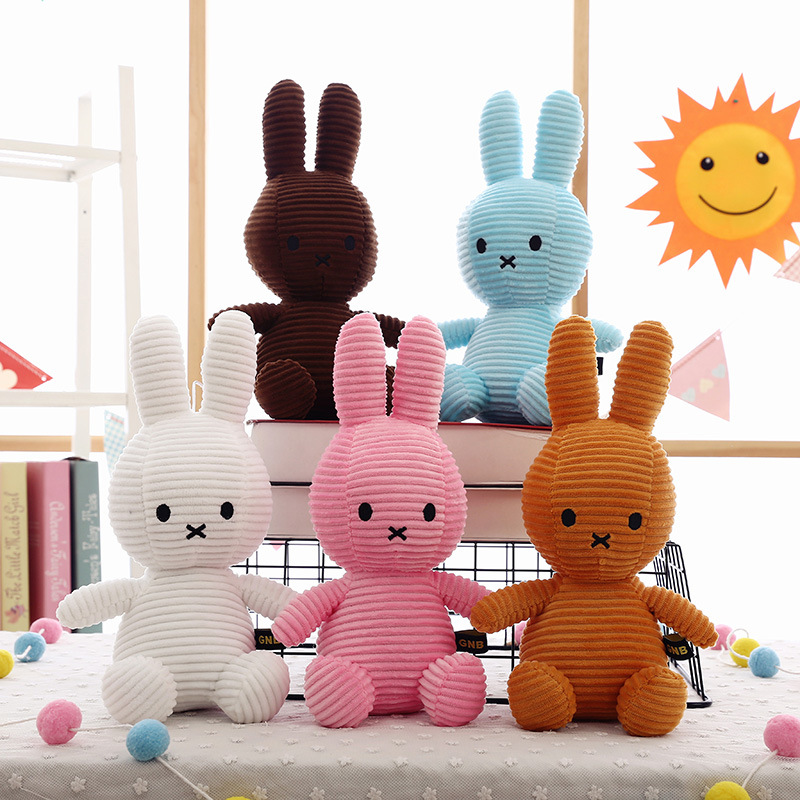 30cm cartoon cute striped rabbit plush stuffed toy child comfort doll children doll pendant birthday gift WJ111 in Movies TV from Toys Hobbies