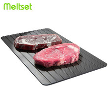 Fast Defrost Tray Magic Thaw Frozen Food Defrosting Tray Meat Fish Beef Thawing Defroster Chopping Board Microwave Mat(China)