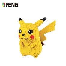 цена на HC 9009 Pikachu Japanese Anime Diamond Doll cartoon Building Blocks Action Figure kits Bricks Toys Christmas Gift For Children