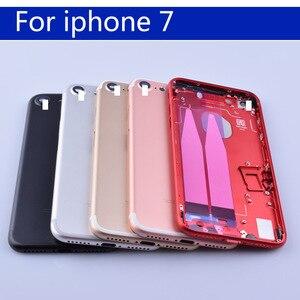 "Image 2 - 4.7 ""עבור 7 7G Coque סוללה כיסוי דלת שיכון חזור דיור עבור iphone7 פגז מארז אמצע מסגרת גוף אחורי מקרה"