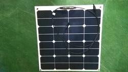 High efficiency solar panels 50w sunpower flexible monocrystalline solar cell price solar panel for sale 100w 2pcs of 50w