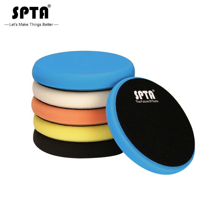 (Toplu satış 2) SPTA 5.5 inç (135mm) hafif/orta/ağır kesme parlatma pedleri ve parlatıcı pedleri 5 inç (125mm) RO/DA/GA araba parlatıcı