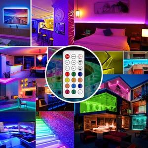 Image 5 - WS2811 LED 스트립 라이트 드림 컬러 RGB 램프 5M 10m 20M SMD 5050 비 방수 다이오드 DC 12V 어댑터 세트 Led 스트립 테이프 유연한