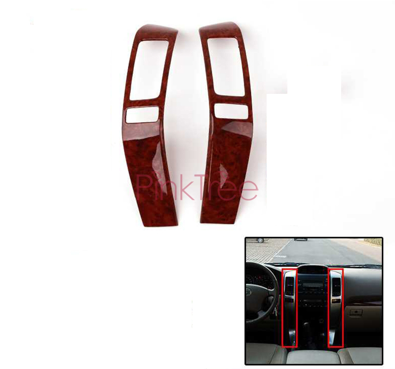 Wooden Color Interior Cover Centre Trim For <font><b>Toyota</b></font> Land Cruiser 120 Prado <font><b>FJ120</b></font> 2003 4 5 6 7 2009 Car Styling Accessories image