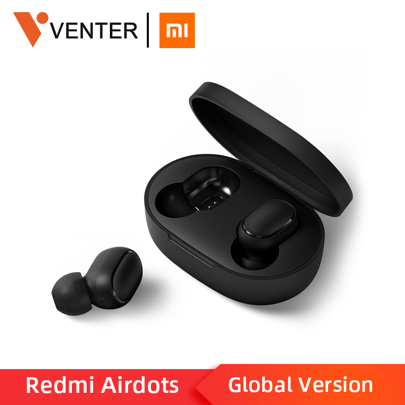 Stock Original Xiaomi Redmi Airdots TWS Wireless Bluetooth Earphone Stereo bass Bluetooth 5.0 With Mic Handsfree AI Control iphone