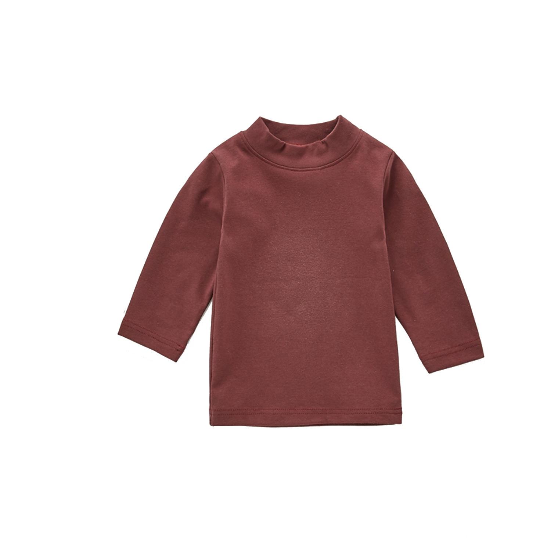 2020 Baby Autumn Clothing Newborn Baby Boy Girl Long Sleeve Tops T-shirt Baby Clothes Kids Solid Sweatshirts 5