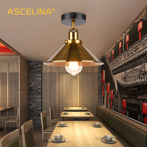Image 3 - ASCELINA LED Industrial Ceiling Lamp Vintage Chandelier Retro Attic Interior Lighting American Country Restaurant Bedroom Lights