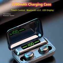 TWS Bluetooth 5.1Earphone 2200mAh Charging Case Wireless Headphone 9D Stereo Sports Waterproof Earbuds Headsets With Microphone