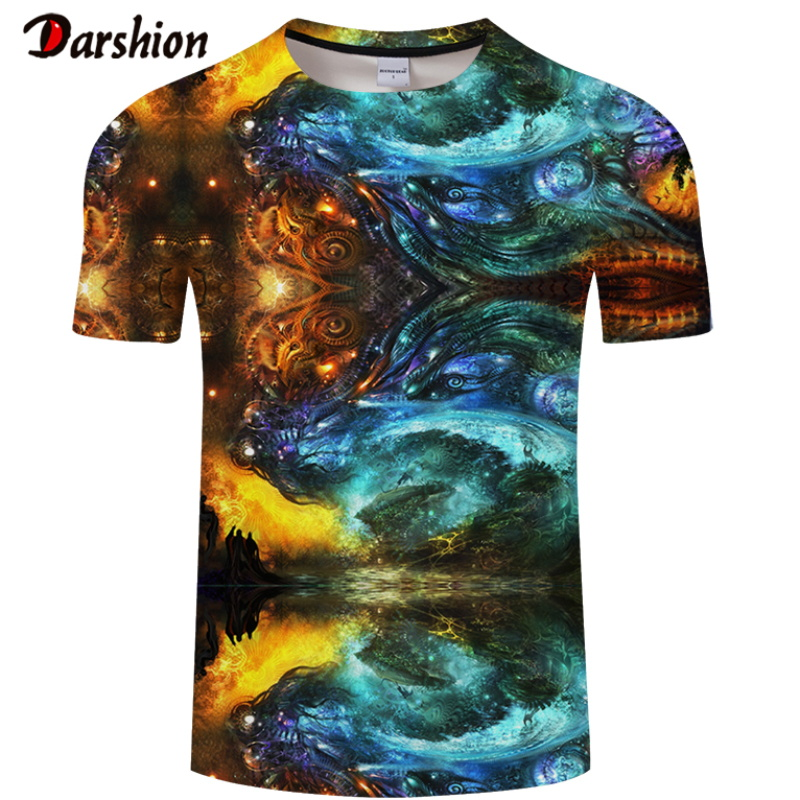 Drop Ship Summer NewFunny Skull Colorful 3d T Shirts Summer Hipster Short Sleeve Tee Tops Men T-Shirts Homme Short Sleeves Tops