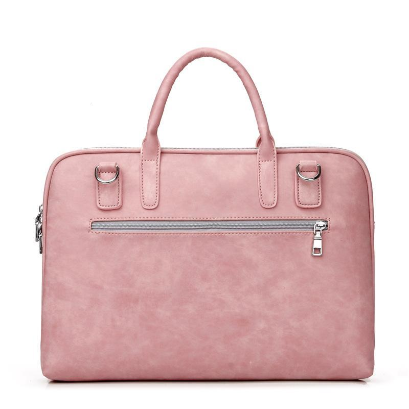 Waterproof PU Leather Briefcase Business Handbag Laptop Notebook Tablet Case 13 14 15 Inch With Adapter Bag