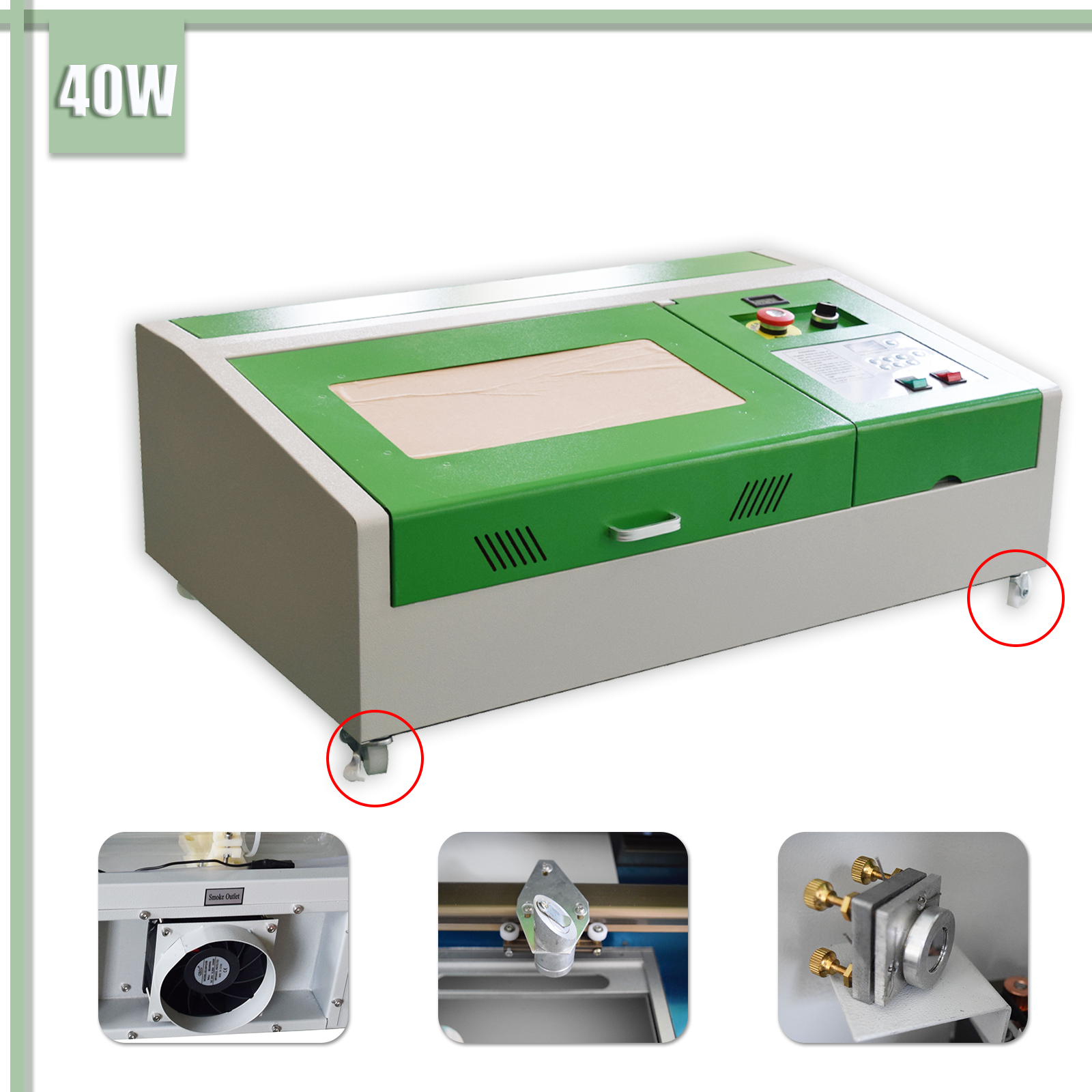 New USB 300x200mm 40W CO2 Laser Maschine Schneiden Maschine Laser Gravur Maschine + 4 rounds