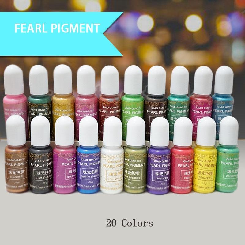 15g/Bottle Pigment Epoxy UV Resin DIY Handmade Art Crafts Coloring Dye Colorant FS99
