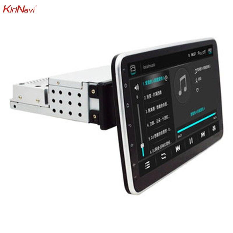 KiriNavi 10.1 Polegada 1DIN para Android 8.1 Estéreo Do Carro Rotação de 360 Graus Leitor Multimédia 1 + 16G 2.5D HD tela de Navegação GPS