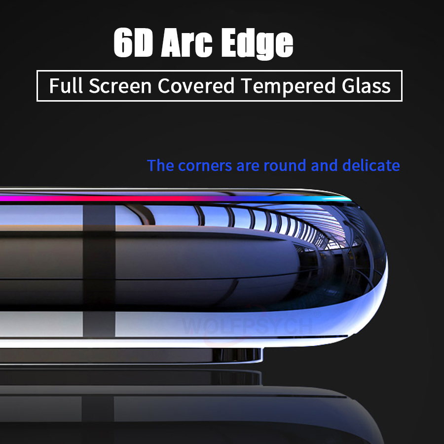 6D Full Glue Cover Tempered Glass For Xiaomi Pocophone F1 Mi 9 9T 8 A2 Lite Max 3 Redmi Note 7 6 5 K20 Pro Screen Protector Film