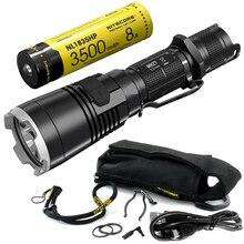 NITECORE lampe torche Rechargeable MH27 avec batterie 18650, CREE XP L HI V3, RGB LED, haute luminosité, livraison gratuite