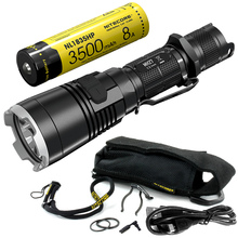 Satış NITECORE MH27 18650 pil ile şarj edilebilir el feneri CREE XP L HI V3 1000LM RGB LED yüksek parlak EDC Torch ücretsiz kargo