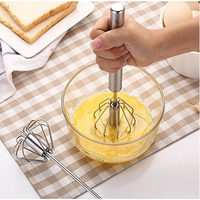 Mixer Egg Beater Manual Self Turning Stainless Steel Whisk Hand Blender Egg Cream Stirring Kitchen Tools