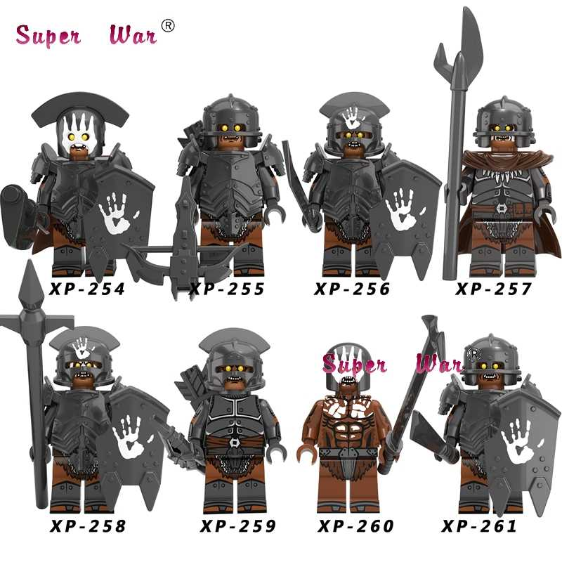 Single Uruk-hai  Elves Gondor Fountain Guard Sword Lancers Game of Thrones Gendry Medieval Archers Series building blocks toys