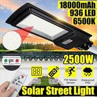 2500W Solar Straße Licht 936 LED Im Freien Wasserdichte Radar PIR Motion Sensor Fernbedienung Led Solar Licht Garten Wand lampe