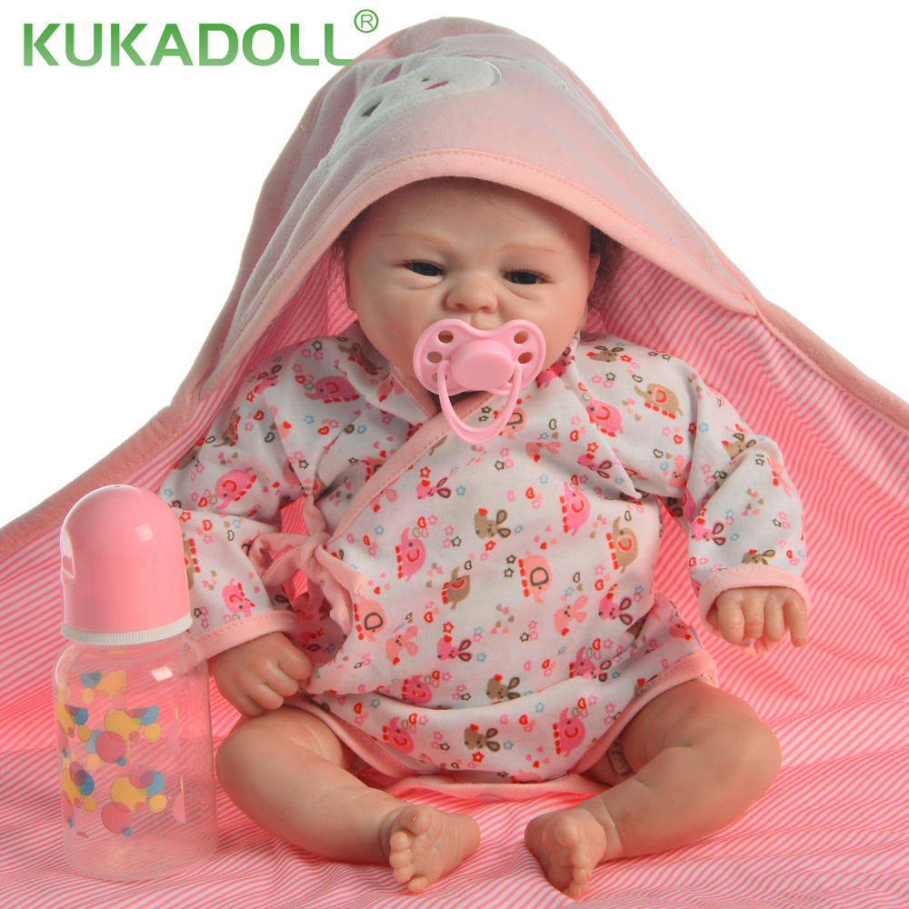Simulation 17 Inch About 42CM Lifelike Reborn Baby Doll Cloth Body Toddler Toy For Kid Creative Birthday Christmas Gift