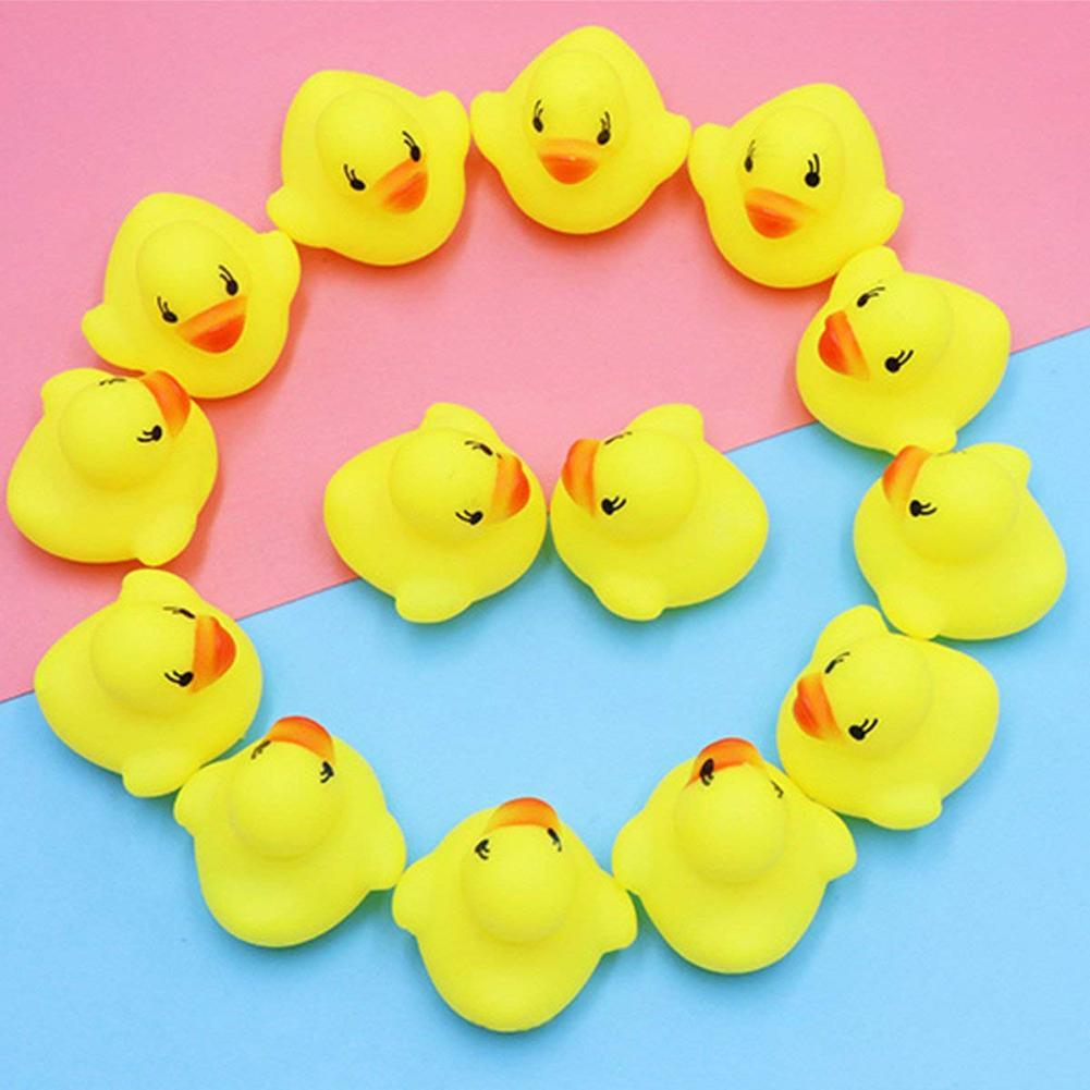 20Pcs Kids Children Mini Bath Ducks Sound Squeezes Toy Anti-Stress Reliever Gift For Children
