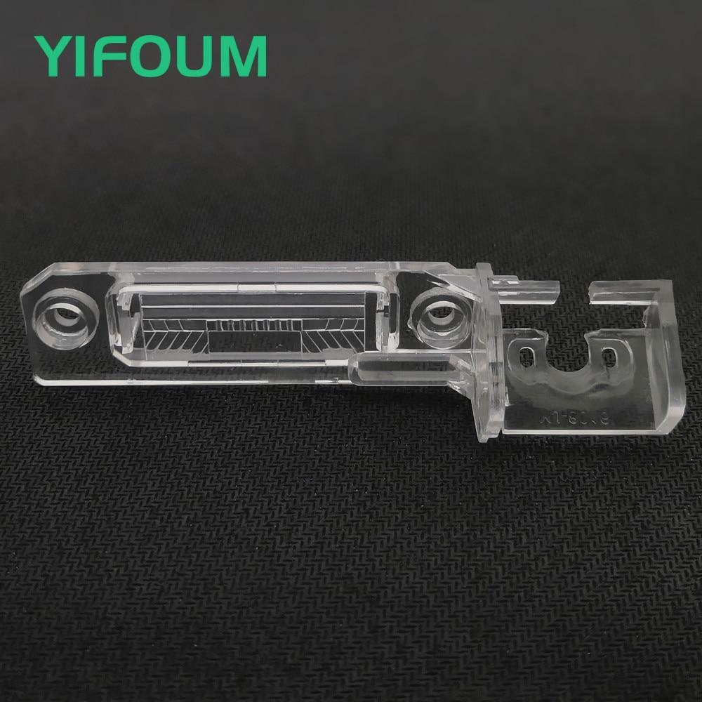 YIFOUM Car Rear View Camera Bracket License Plate Light For Volkswagen Magotan Polo Bora Golf Passat CC Touran Caddy Multivan T5
