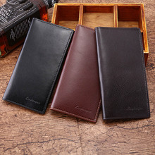 Man Wallet Leather Concise Money Bag Huge Capacity Purse Card Holder carteira po