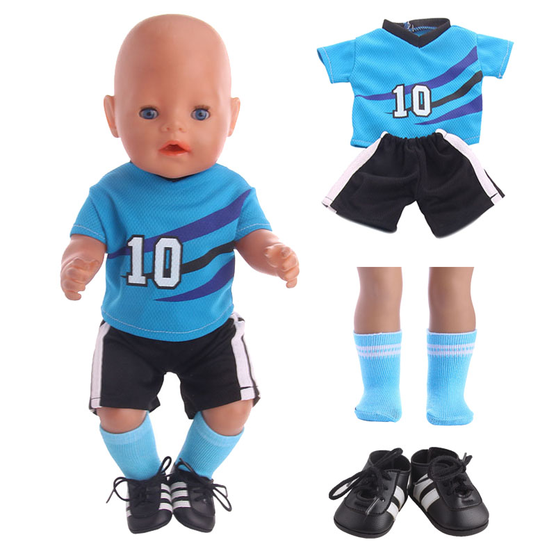 Doll Sportswear 10 Styles Ball Sets For 18 Inch American Doll & 43Cm Born Baby Our Generation Birthday Girl's Gift