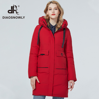 Diaosnowly 2020 new winter coat for women warm fashion woman jacket long female high quality brand jackets and parkas for women winter clothes outwear coat women long