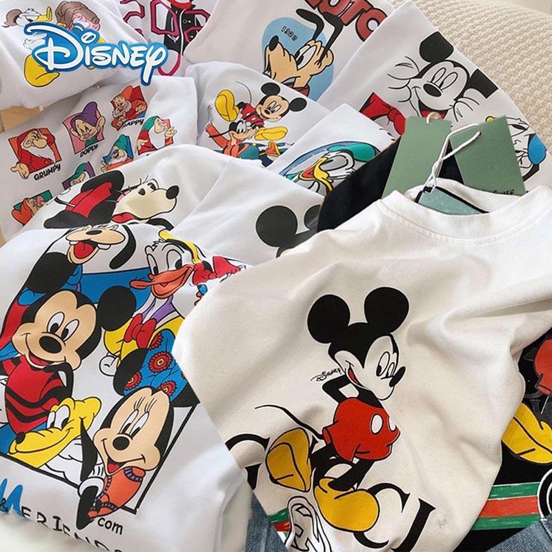 Disney 2020 T shirt Women Cartoon Mickey Minnie Mouse Women Short Summer Regular t Shirt O Neck White Tops Tee Shirt Loose Femme T-Shirts  - AliExpress