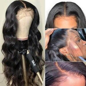 Image 3 - Бразильский парик Alibele 13x 4/4x4 с волнистыми волосами, 150% предварительно выщипанный парик на сетке спереди, парик на сетке 4x4, парик на сетке, волнистые человеческие волосы, парик для женщин