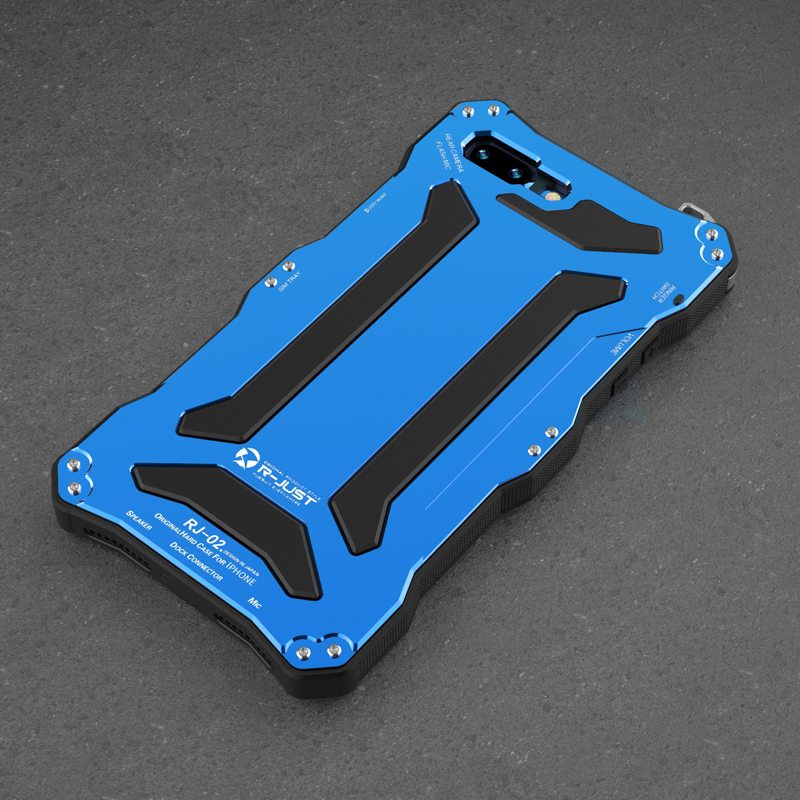Outdoor Sport Drei-<font><b>proof</b></font> 360 Volle Schutz Fall Für <font><b>iPhone</b></font> 7 6 <font><b>6s</b></font> 8 Plus 5s 5 SE Aluminium Metall + Silikon Hard Cover Fall image