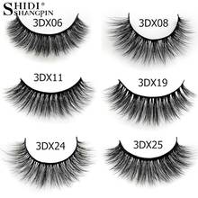 SHIDISHANGPIN 15Pairs 3D Mink Makeup False Eyelashes Soft Natural Long Thick Lashes Plastic Cotton Stalk Curling Dense Eyelashes недорого