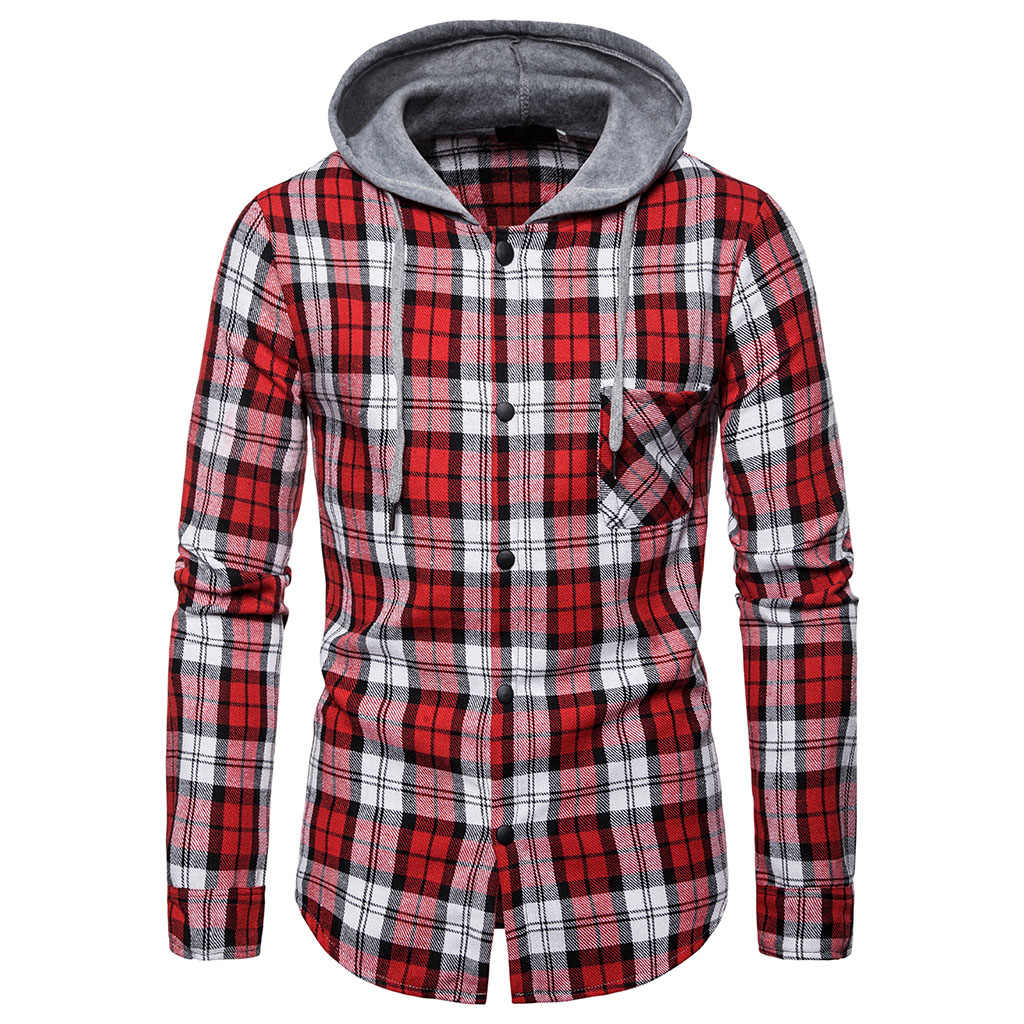 Monerffi femme 2019 hoodies tracksuit 남성 가을 캐주얼 격자 무늬 셔츠 긴 소매 풀오버 셔츠 탑 후드 블라우스 스포츠웨어