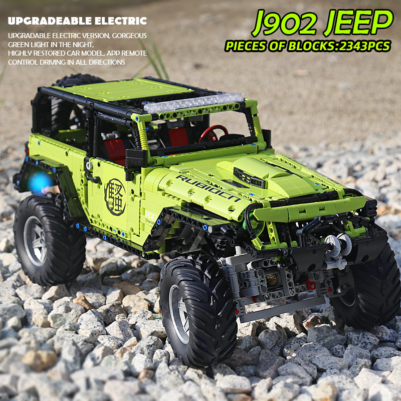 Yeshin J902 High-Tech Car Model The MOC-5140 Jeeped Wranglers Rubicon Set Assembly Building Blocks